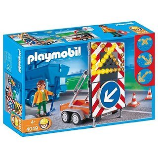 Playmobil LED Signal on Trailer Construction Set