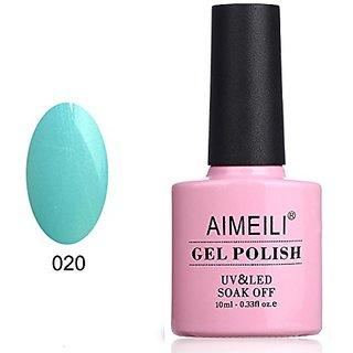 AIMEILI Soak Off UV LED Gel Nail Polish - Azure Wish (020) 10ml