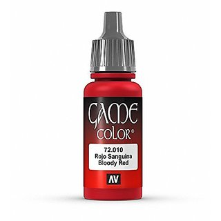 Vallejo Game Color Bloody Red Paint, 17ml