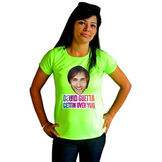 LetsFlaunt David Guetta Gettin Over You T-shirt T-shirt Girls Green Dry-Fit-X-Small Nw