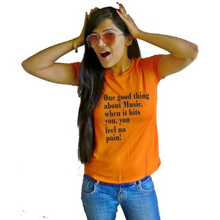 LetsFlaunt Good Thing Music T-shirt T-shirt Girls Orange Dry-Fit-X-Small Nw