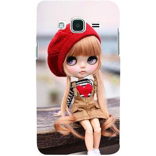 official photos 13872 c2fe7 EagleHawk 3D Designer Back Cover for Samsung Galaxy J2 2016 :: Cartoon Girl  with Red Woolen Cap :: Samsung J2 2016 Designer Case (Eagle-037)