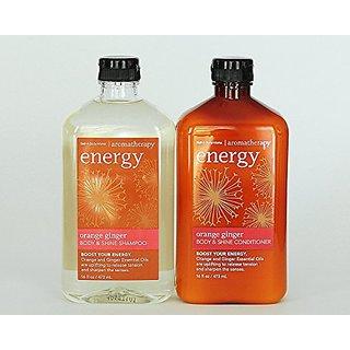 Bath & Body Works Orange Ginger Body & Shine Shampoo & Conditioner Set