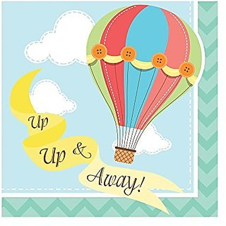 Creative Converting Up, Up & Away Beverage Napkins (16 Count)