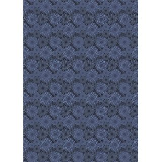 Lassig Bellyband Straight Edge Style Worn Inside Or Out - Flower Navy