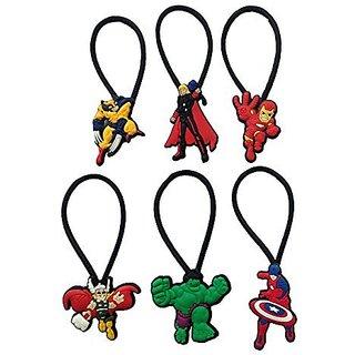 Avengers Hairband Ponytail Holder 6 Pcs Set #2