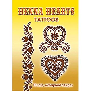 Dover Books DOV-44941-6 Henna Hearts Tattoos