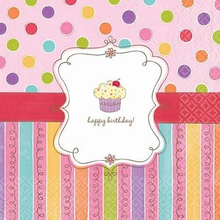 American Greetings 013051304324 16 Count Party Supplies Sweet Stuff Lunch Napkins