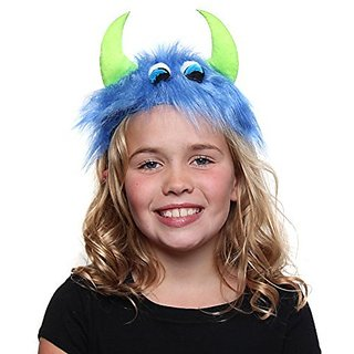 Blue & Green Furry Monster Headband