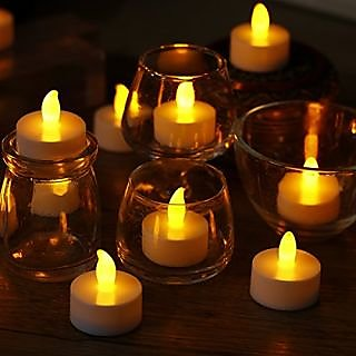 LED Tea Light Candles Battery Operated Candles Realistic Flameless Candles unscented LED Candles for Wedding ,Decoration