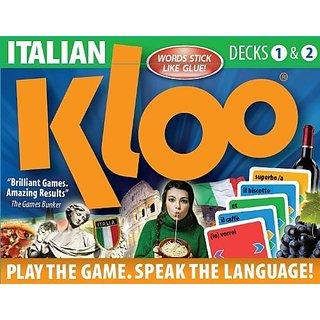 Buy KLOOs Learn To Speak Italian Language Card Games Pack 1 Decks 2 Online