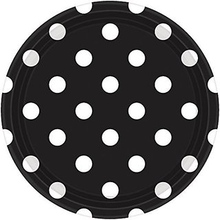Amscan Dots Lunch Party Paper Plates for Parties, 9