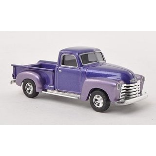 Chevrolet Pick Up, met.-purple , 1950, Model Car, Ready-made, Busch 1:87