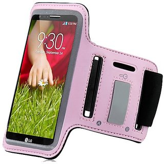 Baby Light Pink ArmBand Workout Case Cover For LG G3 D855 with Free Pouch