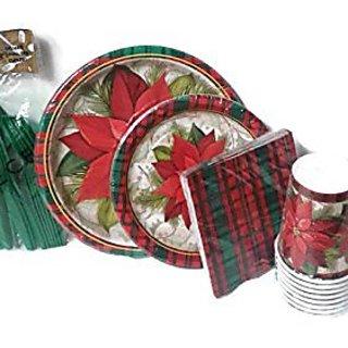 Poinsettia Party Supply Set