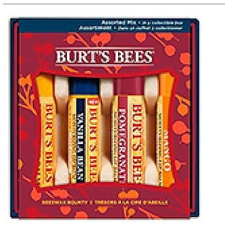 BurtS Bees Beeswax Bounty Giftset With Original, Mango, Pomegranate, And Vanilla