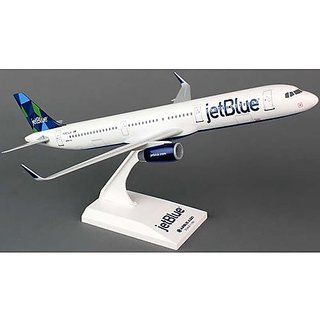 Daron SkyMarks SKR778 JetBlue Airlines Airbus A321 1:150 Scale New Livery Prism Tail Display Model