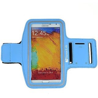 SamacLife ACTIVE Reflective Sports Armband for Samsung Galalxy Note 3 III / Samsung Galaxy S5 / Samsung Galaxy Note 4 (B