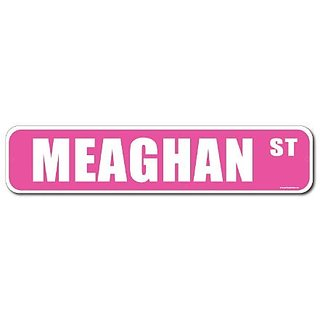 Meaghan Pink Street Sign-Personalized Novelty Gift