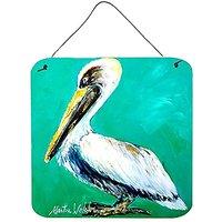 CarolineS Treasures Bird-Pelican Lighting Up Aluminum Metal Wall Or Door Hanging Prints, 6 X 6