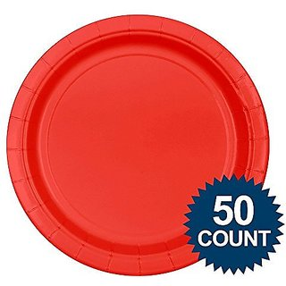 Big Party Pack Dinner Plates 9 50 Pkg-Apple Red