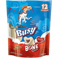 Busy Bone Dog Treat - Mini - 21-Ounce Pouch - Pack Of 1