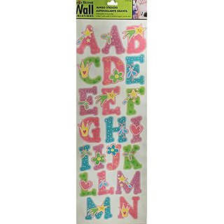 Main Street Wall Creations Stickers Home Decor Wall Clings (Jumbo Pretty  Princess Girl Alphabet With Part 80