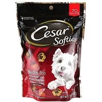 CESAR SOFTIES MEDLEY Trio Dog Treats (Pack Of Eight 6-O