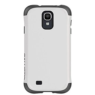 Ballistic Protective Cover for Cellular Phone for Samsung Galaxy S4 - Retail Packaging - White/Gray