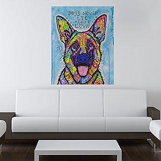 My Wonderful Walls Animal Pop Art by Dean Russo Dogs Never Lie German Shepherd Wall Sticker