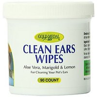 Gold Medal Pets Clean Ears Wipes For Dogs And Cats, 90
