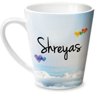 Hot Muggs Simply Love You Shreyas Conical Ceramic Mug 350ml