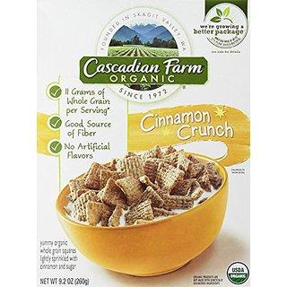 Cascadian Farm - Organic - Cinnamon Crunch Cereal - 9.2oz Box - Pack of 4