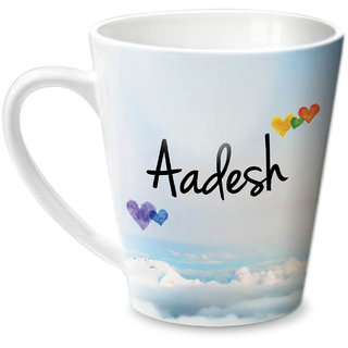 Hot Muggs Simply Love You Aadesh Conical Ceramic Mug 350ml