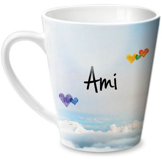 Hot Muggs Simply Love You Ami Conical Ceramic Mug 350ml