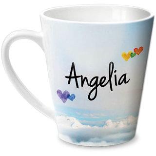 Hot Muggs Simply Love You Angelia Conical Ceramic Mug 350ml