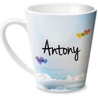 Hot Muggs Simply Love You Antony Conical Ceramic Mug 350ml