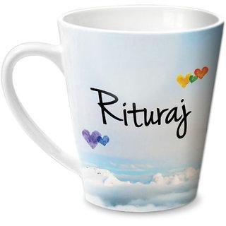 Hot Muggs Simply Love You Rituraj Conical Ceramic Mug 350ml