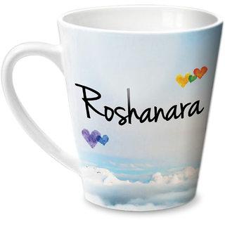 Hot Muggs Simply Love You Roshanara Conical Ceramic Mug 350ml