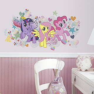RoomMates RMK2708GM My Little Pony Wall Graphix Peel and Stick Giant Wall Decals