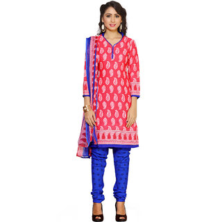 Trendz Apparels Pink Colored Crepe Printed Dress Material (Unstitched)