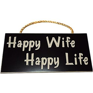 Buy Happy Wife Happy Life Wood Sign For Home Wall Decor Perfect