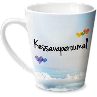 Hot Muggs Simply Love You Kessavaperoumal Conical Ceramic Mug 350ml