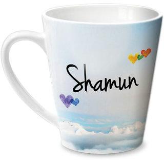 Hot Muggs Simply Love You Shamun Conical Ceramic Mug 350ml