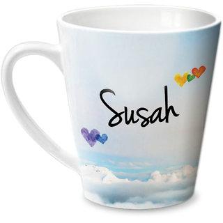 Hot Muggs Simply Love You Susah Conical Ceramic Mug 350ml