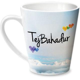 Hot Muggs Simply Love You TejBahadur Conical Ceramic Mug 350ml