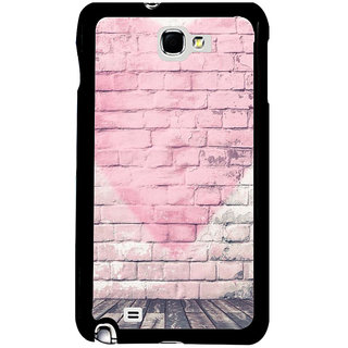 Ayaashii Love Symbol On Wall Back Case Cover for Samsung Galaxy Note 2::Samsung Galaxy Note 2 N7100