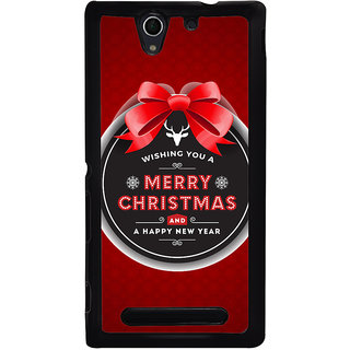 Ayaashii Merry Chirstmas Wishes Back Case Cover for Sony Xperia C3 Dual D2502::Sony Xperia C3 D2533