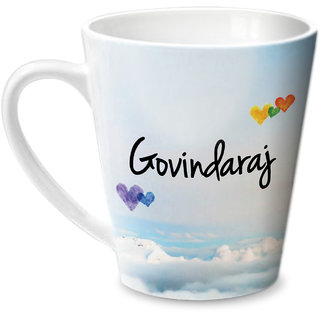 Hot Muggs Simply Love You Govindaraj Conical Ceramic Mug 350ml