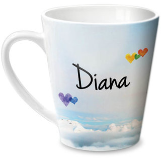 Hot Muggs Simply Love You Diana Conical Ceramic Mug 350ml